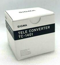 New SIGMA TC-1401 1.4x Teleconverter for Canon EF