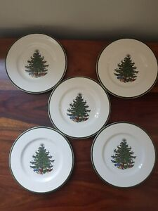 5 Vintage CUTHBERTSON Christmas Side Plates china Plate 15cm RARE