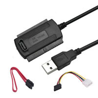 USB 2.0 to SATA PATA IDE 2.5 3.5 HDD Hard Drive Adapter Converter Transfer Cable