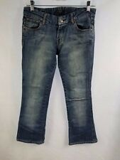 """7 Seven For All Mankind Bootcut Jeans Size 26 Bling Pockets Inseam 28"""" Women's"""