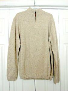 men's Luca Nobili 1/4 zip sweater oatmeal 2xl