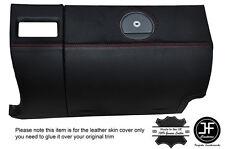 Rouge couture de boîte à gants couverture en cuir pour chrysler crossfire 03-08