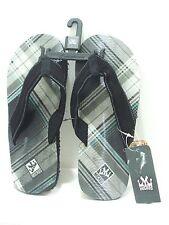 MICROS Men's Flip Flops Thong Sandal MZSD-351 Black Size 7 New