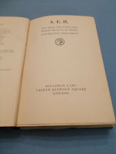 BRITISH LITERATURE. A.E.H BY LAURENCE HOUSMAN 1937 FIRST EDITION HARDBACK