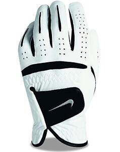 New Womens Nike golf Dura Feel White Golf Glove Left 19 cm Small