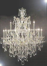 "Maria Theresa Swarovski Crystal Trimmed Chandelier Lighting H30""xW28"""
