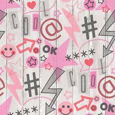 Graffiti Urban Social Media Papier Peint Planche de Bois Board Emoji Star Fine Decor