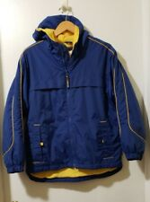 Below Zero by Rothschild Boys Hooded Jacket Size L (14/16) Blue Yellow Zipup