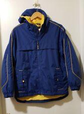 Below Zero by Rothschild Boys Hooded Jacket Size L (14/16) Blue Yellow Zipup
