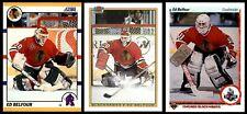 1990-91 Ed Belfour RC | LOT x3 | Bowman #7 | Score Traded #103T | Upper Deck #55
