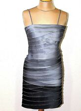 A10 Women's  Phase Eight Kate Grey Ombre Tiered Evening Dress Uk Size 8