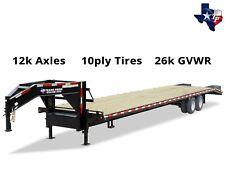 New listing Brand New Texas Pride 8½' x 30' (25'+5') Equipment Trailer, 26k gvwr