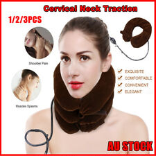 2x Air Inflatable Pillow Cervical Neck Traction Device for Easing Muscle Pain