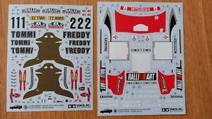 Decals for 1/24 Tamiya Mitsubishi Lancer Evolution VI Rally New Zealand 1999