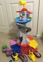 Paw Patrol My Size Lookout Tower,   VEHICLES, FIGURES LOT Complete Set EUC