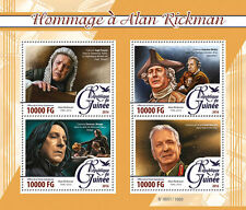 Guinean Celebrities Sheet Famous People Postal Stamps
