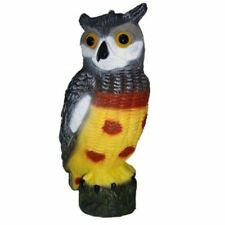 Large Realistic Owl Decoy With  Head Bird Pigeon Crow Scarer Scarecrow