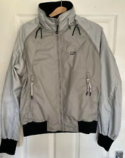Diesel 55DSL Casual Showerproof Jacket Zipped  Grey Small Mens
