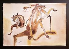 FRANCISCO TOLEDO, nice painting goauche on hard paper, signed.