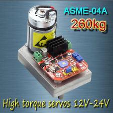 ASME -04A High power high torque servo the 12V~24V 260kg.cm 0.12s/60 Degree