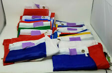 Collection of 10 European Flags Denmark Czech Ukraine Italy France Germany More