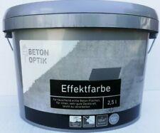 2,5l Effektfarbe Wandfarbe Beton-Optik betongrau Design grau Designfarbe