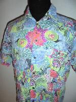vintage TROMMLER & HOOKS Hemd crazy pattern 80`s shirt 80er oldschool M/L