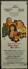 WHEN TIME RAN OUT 1980 ORIG 14X36 MOVIE POSTER PAUL NEWMAN JACQUELINE BISSET