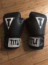 Title Boxing Hit It Hard Training Gloves Reg - Black