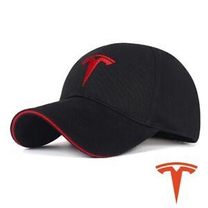 Tesla Car Logo Cap Embroidered Adjustable Baseball Men Women Outdoor Travel Hat