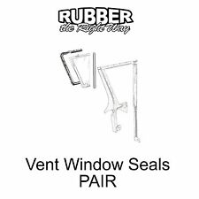 1957 1958 Ford & Edsel Vent Window Seals - PAIR
