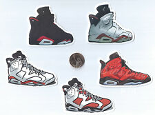Air Jordan 6-8 Sticker Pack Combo (12 Pieces) Shoe Sneaker royal bred flint toro