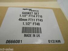 """SPIRAX SARCO 0666801 40mm 1-½"""" FT14 FT10 FT11 FT43 FT4 GASKET SET"""