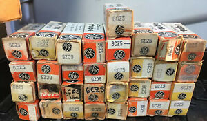 (33) Tube 6CZ5 GE Big Unused Lot In LONG Box Power Akin 6973 Tubes For Jukebox