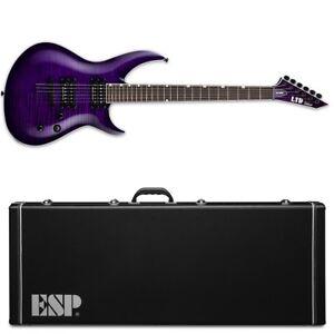 ESP LTD H3-1000 See Thru Purple Sunburst STPSB Electric Guitar + Hard Case H3