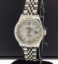Rolex Datejust Ladies 26mm 69240 1.2ct Diamond Bezel & White MOP diamond Dial