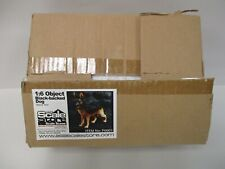 1/6 SCALE GERMAN SHEPHERD RESIN DOG NEW IN BOX SCALE STORE BLACK-BACKED DOG