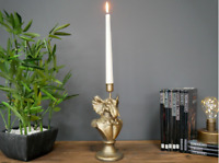 Retro Gold Elephant Candlestick Vintage Style Antique Candle Holder Dinner Table