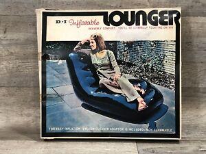 Vintage 1970 NOS Dan-Dee Imports Inflatable Black Lounger