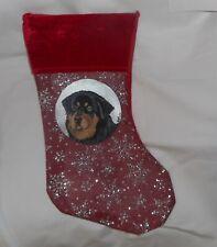 Tibetan Mastiff Dog Hand Painted Christmas Gift Stocking Holiday Decoration
