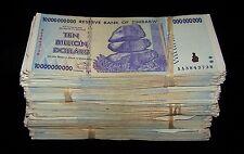 1000 x Zimbabwe 10 Billion Dollar bank notes -10 bundles/1 brick