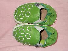 Melton Babyschuhe grün weiss Gr 0 - 6 Monate