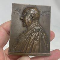 1935 French Bronze Medal Emile Perrot Professor of Pharmacy by Rispal - 81243