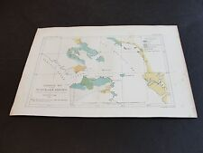 Geological Map of the Vicinity of San Francisco by W. Blake 1853, Colored Print!