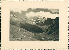 France, Le Mont-Viso, Vallée du haut Guil  Vintage silver print Tirage argen
