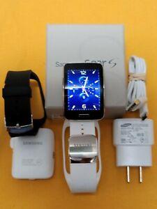 Samsung Galaxy Gear S Sm-r750v curved amoled smartwatch white wi-fi bluetooth 3g