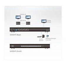 HDMI Over Single Cat 5 Splitter. Aten VS1814T 4-Ports -  Never Used!