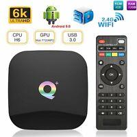 Q Plus Smart TV BOX 4+32GB Android 9.0 Allwinner H6 Quad Core USB3.0 WiFi Media