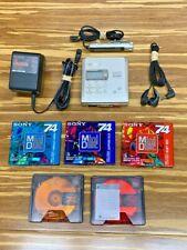 Sony Mz-R55 MiniDisc Walkman Player Recorder Mdr-Ed228 Headphones Complete