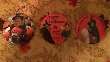 Wizard Of Oz Halloween Limited Edition Pin Back Buttons